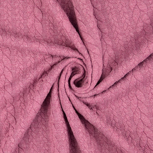 Vintage Cable Knit Jersey Magenta