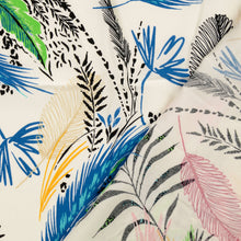 Blue Feather Viscose Dress Fabric