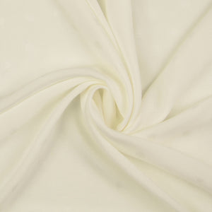Viscose Jacquard Off White Dress Fabric
