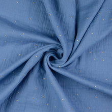 Dew Drop Blue Cotton Double Gauze