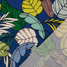 Botanical Leaves Blue Viscose Jersey