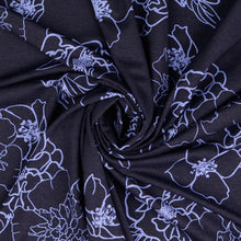 Evening Rose Navy Viscose Jersey