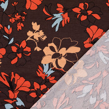 Evening Bouquet Brown Viscose Jersey
