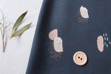 REMNANT 1 meter Atelier Brunette - Moonstone Blue viscose / rayon dress fabric