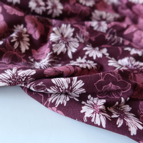 REMNANT 2.55 metres Danish Design - Asters Viscose Jersey Fabric