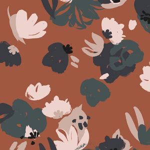 Atelier Brunette - Posie Chestnut Viscose Dress Fabric