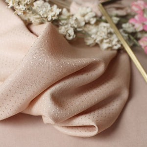 Atelier Brunette - Dobby Blush Viscose Dress Fabric