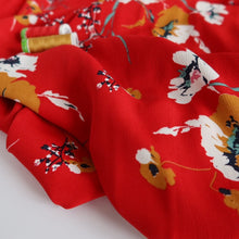 Josephine Urban Red Viscose Crepe Fabric