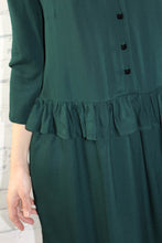 Églantine & Zoé - Solid Pine Green Viscose Twill Fabric