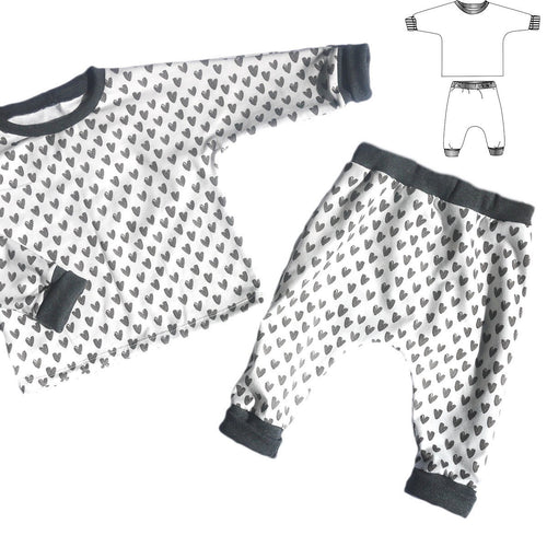 Ikatee - CORDOBA Jogging or pyjama set - Baby Boy & Girl 1M/4Y- Paper Sewing Pattern