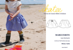 Ikatee - MARGUERITE Skirt 3-12 Years - Paper Sewing Pattern