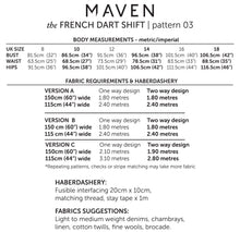 Maven Sewing Patterns - The French Dart Shift