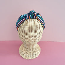 Adornments By Rosheen - Rifle Paper Co - Happy Stripes Navy Small Knot Headband