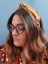Adornments By Rosheen - Atelier Brunette Moonstone Ochre Viscose Rayon Small Knot Headband