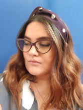 Adornments By Rosheen - Mind the Maker Burgundy Dots Viscose Twist Headband