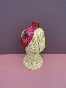 Adornments By Rosheen - Danish Design Sunflowers Magenta Rayon Small Knot Headband