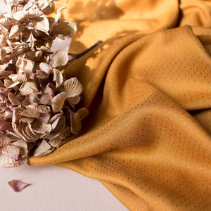 REMNANT 0.78 meter Atelier Brunette - Dobby Ochre Viscose Dress Fabric