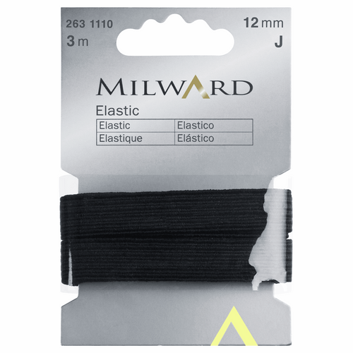 Milward Elastic 3m x 12mm - Black