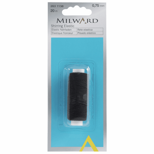 Milward Shirring Elastic - Black