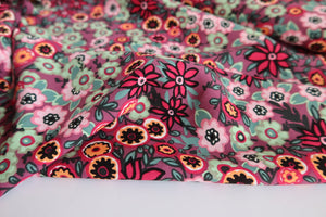 Zoe Red Viscose Poplin Fabric