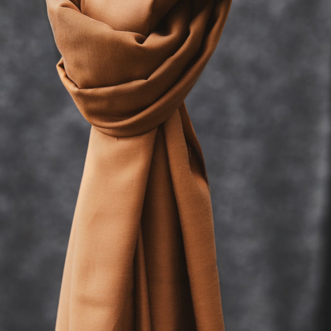 Meet MILK - Smooth Drape Twill Mustard with TENCEL™ Lyocell fibers