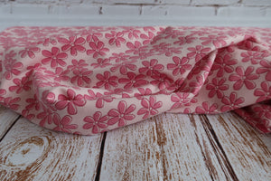 Danish Design - Pink Blooms Cotton Jersey Fabric