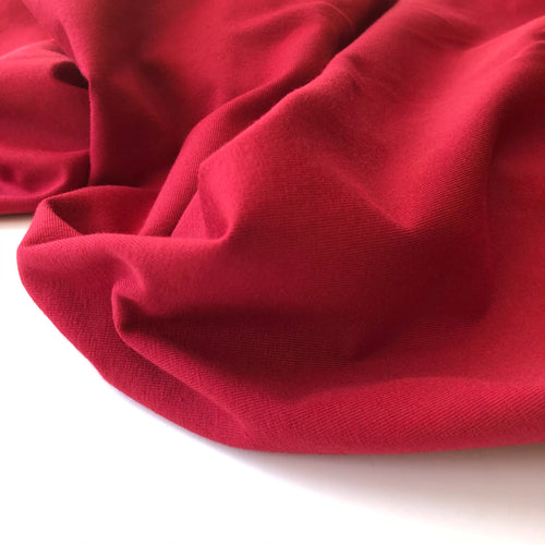 Essential Chic Red Wine Plain Cotton Jersey Fabric
