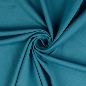 REMNANT 1.19 meters Teal Viscose Ponte Roma Double Knit Fabric