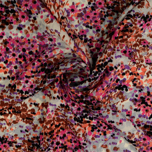 Abstract Field Pink Viscose Rayon Fabric