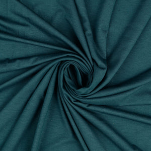 Inspire Dark Teal Solid Viscose Jersey Fabric