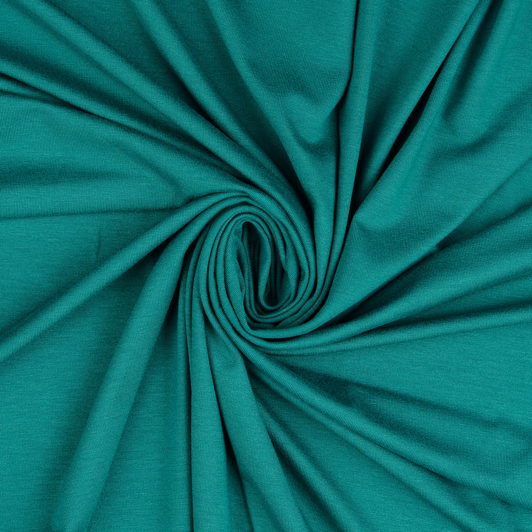 Inspire Teal Solid Viscose Jersey