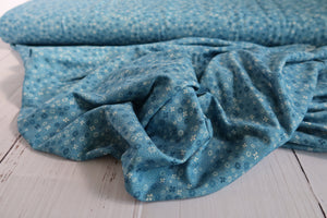 Danish Design - Ditsy Floral Blue Viscose Jersey Fabric