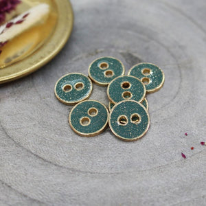 Atelier Brunette - Joy Glitter Buttons - Cactus 12mm
