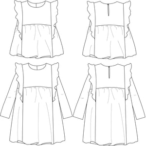 Ikatee - STELLA Duo Blouse & Dress - Girl 3/12 - Paper Sewing Pattern
