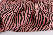 Zebra Old Rose Woven Viscose Fabric