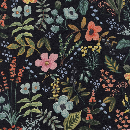Rifle Paper Co - Herb Garden Midnight Canvas from Amalfi