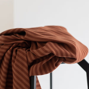 Meet MILK - Two Tone Stripe Twill Pecan with TENCEL™ Lyocell fibers