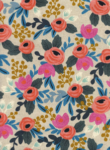 Rifle Paper Co - Rosa Natural Canvas from Les Fleurs