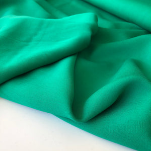 Grandeur Green Viscose Twill Dress Fabric