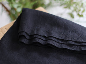Mind The MAKER - Organic Leaf Jacquard Black
