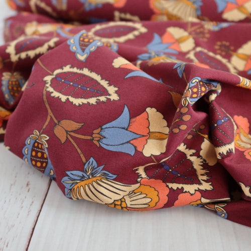 Danish Design - Floral Form Cotton Jersey Fabric