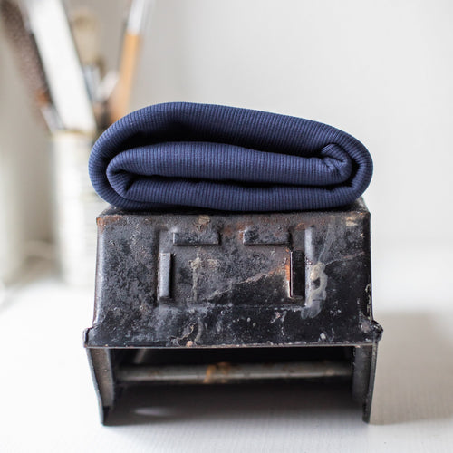 Mind The MAKER - Organic 2x1 Rib Knit Dark Navy
