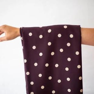 Mind The MAKER - Dots Burgundy Stretch Viscose Dress Fabric
