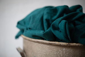 Mind The MAKER - Organic Nep Sweat Knit Emerald 180cm wide