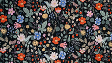 Rifle Paper Co - Strawberry Fields Black Cotton from Strawberry Fields