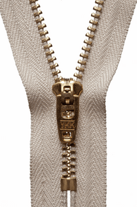 Copy of YKK 13cm (5 inch) metal zip -  572 Beige