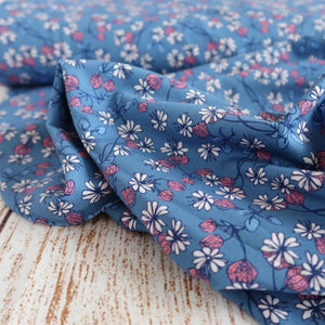 Danish Design - Thistle Blooms Blue Cotton Jersey Fabric