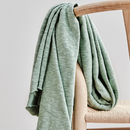 Mind The MAKER - Organic Slub Jacquard Sage Green