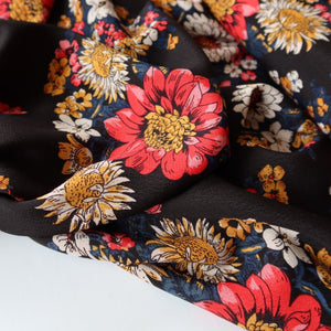 Sunflower Japanese Cupro Crepe with TENCEL™ Lyocell fibres