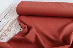 Orange Viscose Ponte Roma Double Knit Fabric